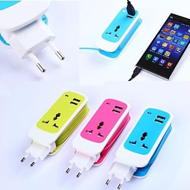 3in1 double chargeur de voyage de port usb universelle adapte de prise pour iphone ipad et d. Black Bedroom Furniture Sets. Home Design Ideas