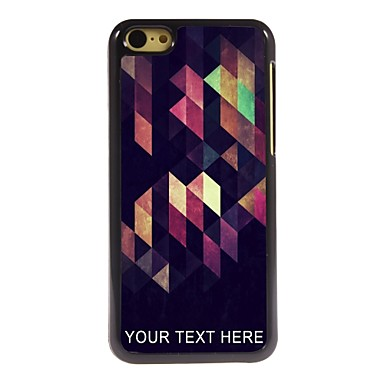 Buy Personalized Phone Case - Curve Rhombus Design Metal iPhone 5C