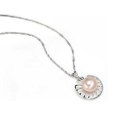 AS 925 Silver Jewelry Hollow Pearl necklace