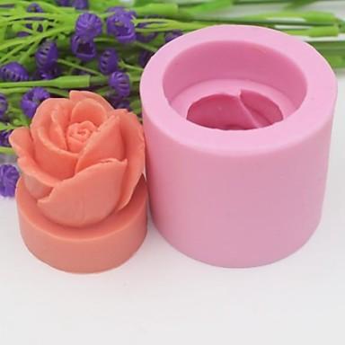 Buy 3D Rose Flower Shaped Fondant Cake Chocolate Silicone Mold Decoration Tools,L5cm*W5cm*H4.3cm