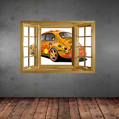 Buy 3D Wall Stickers Decals, Original Painting Cool Cars Decor Vinyl