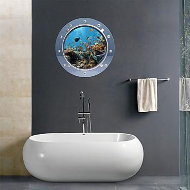 3d Wall Stickers Wall Decals Marine Organisms Bathroom