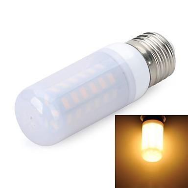 E27 Frosted 8W 800LM 6500K/3000K 48-5730 SMD Warm/Cool White Light LED Corn Bulb (AC 220~240V)