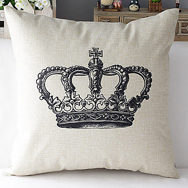 Buy Modern Style Eiffel Tower Patterned Cotton/Linen Decorative Pillow Cover