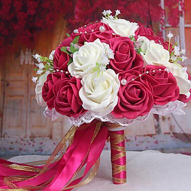 ein bouquet von 30 pe simulation rosen wedding sind blumenstrau hochzeit braut mit blumen rosa. Black Bedroom Furniture Sets. Home Design Ideas