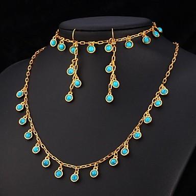 u7 174 blue turquoise necklace bracelet earrings 18k