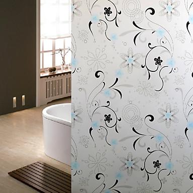 Film de fen tre de salle de bains autocollants autocollant de fleur de vigne porte en verre - Film salle de bain ...
