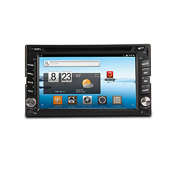 Buy 6.2-inch 2 Din TFT Screen In-Dash Car DVD Player Bluetooth,Navigation-Ready GPS,iPod-Input,RDS,Wi-Fi,TV
