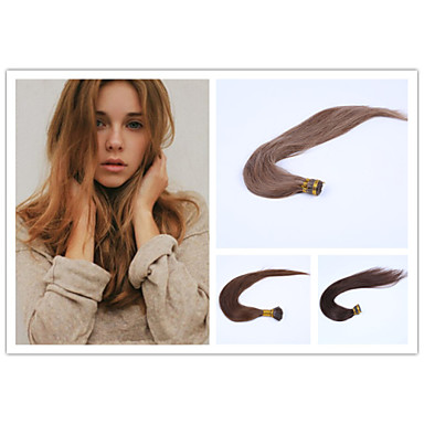 Buy 1pc/Lot 22Inch/55cm 100s/Pack 0.5g/s multicolors Straight Stick tip hair Extension Grade5A Human Hair