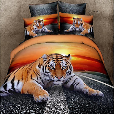 Buy 3D Tiger Duvet Cover Set Queen Bedding