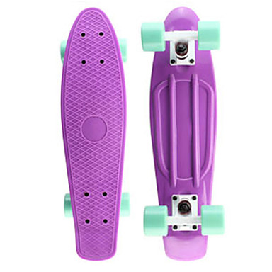 Classic Plastic Skateboard 22 inch Mini Cruiser with Abec-7 Bearings 60mm 78A Wheels