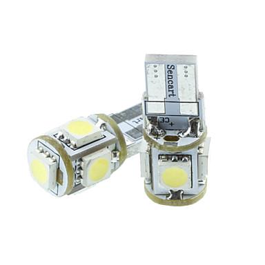 Buy T10 149 W5W LED Blue/Red/Warm White/Green/Yellow/White 1.5W 5X5050SMD 90LM Car Light Bulb (DC12-16V)