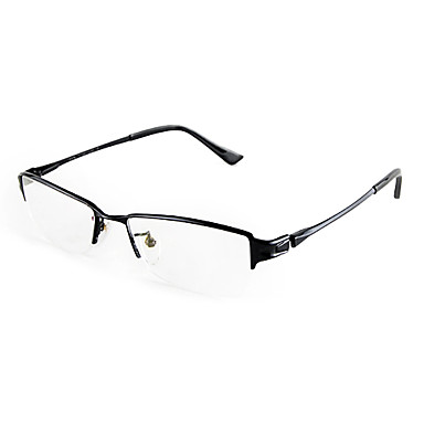 Lightweight Titanium Eyeglass Frames : [Free Lenses] Titanium Rectangle Half-Rim Lightweight ...
