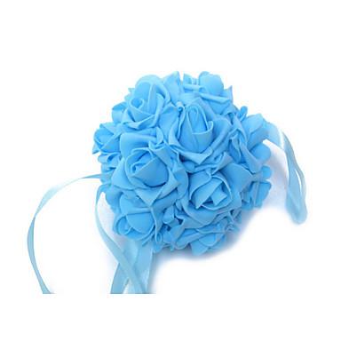 Buy 6 Inch Foam Santin Artifiical Kissing Rose Flowers Balls Wedding Bouquet Car Decoration