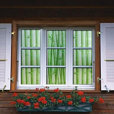 Film de fen tre de salle de bains autocollants for Bambou salle de bain sans fenetre