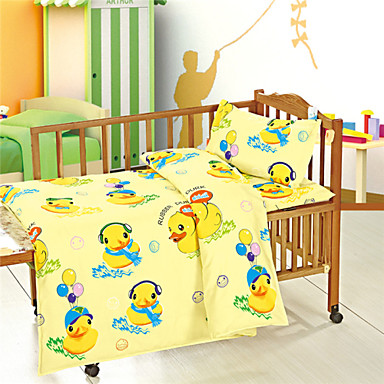 100% Cotton Girl Baby Newborn Yellow Baby Bedding Set