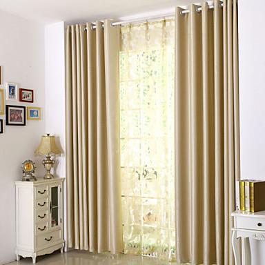 Comedor color puro franela cortinas de color beige - Cortinas para comedor ...