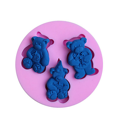 Cake Decoration Molds : Baking Molds Bear Fondant Mold Cake Decoration Mold ...