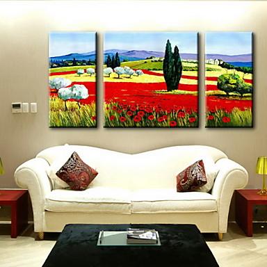 Lgem lde dekoration abstraktes landschafts hand bemalte leinwand mit gestreckten umrahmt set - Bemalte leinwande ...