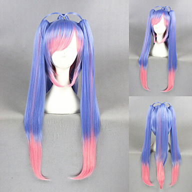 Buy 28inch Long Blue Pink Mixed Kantai Collection E19 Synthetic Anime Cosplay Ponytails WigCS-254A
