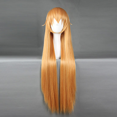 Buy Cosplay Wigs Shokugeki Soma Orange Medium Anime 70 CM Heat Resistant Fiber Male / Female