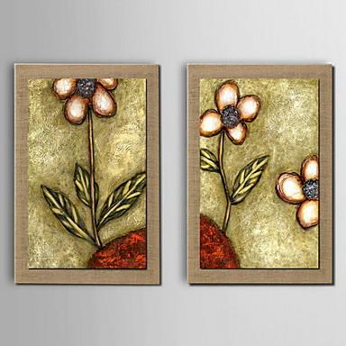 Peinture l 39 huile d coration fleur peinte la main lin for Peinture lin naturel