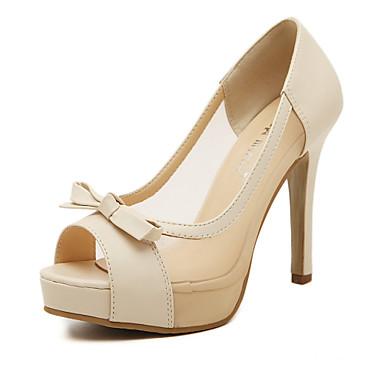 chaussures femme similicuir talon aiguille talons bout ouvert a plateau confort sandales. Black Bedroom Furniture Sets. Home Design Ideas