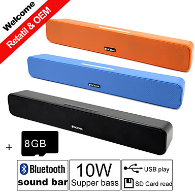 Buy Besteye® 8GB TF Card G-807P 10W HIFI Sound Bar Speakers FM Aux remote control Stereo Bluetooth Speaks Wireless