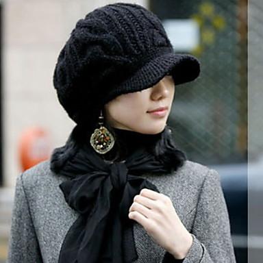 Women Warm Twist The Cap Earmuffs Knitted Cap