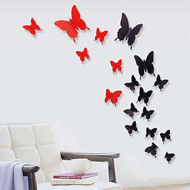 12 pcs 3d papillon en plastique de stickers muraux sticker mural de 3936136 2016. Black Bedroom Furniture Sets. Home Design Ideas