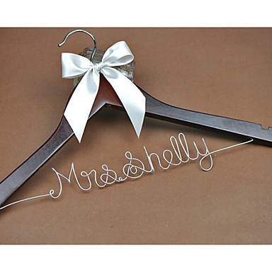 Personalized wedding dress hanger custom bridal for Wedding dress hanger name