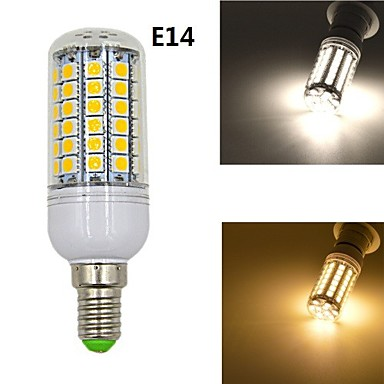 Buy E14/E27 10W 1020lm 69x5050SMD LED Warm White Light Corn Bulb (AC 220-240V)