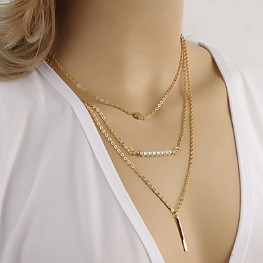 Aestheticism Fashion Simple Pearl Multilayer Necklace
