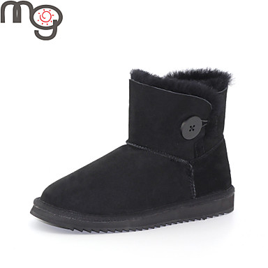 mo twinface sheepskin autumn and winter fashion snow boots