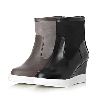 s shoes wedge heel fashion boots pointed toe boots