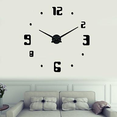 uermerstar DIY veliki 3d crni brojevi zidni sat promjera 39 u iz 3946298 2016...