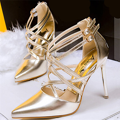s shoes leatherette stiletto heel pointed toe pumps