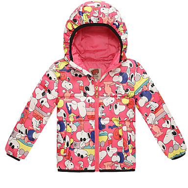 Girl's Cotton Blend / Polyester Down & Cotton Padded , Winter / Spring / Fall Long Sleeve