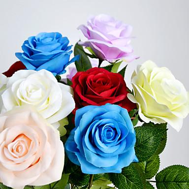 Une succursale polyester roses fleurs artificielles 60cm for Livrer une rose