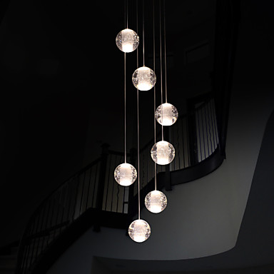 umei modern pendant lights pendant lamp g4 retroifit 7 lights chrome plating crystal for dining. Black Bedroom Furniture Sets. Home Design Ideas