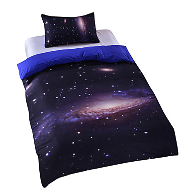 New galaxy outer space duvet cover set bedding twin full for Outer space bedding