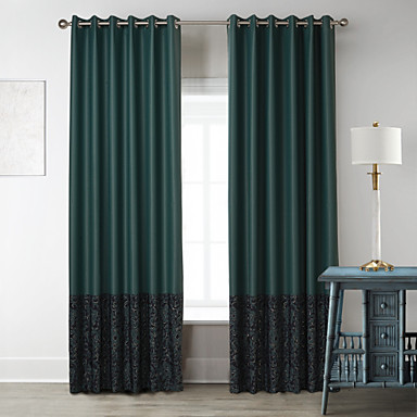 green living room poly cotton blend panel curtains drapes 4468237 2017