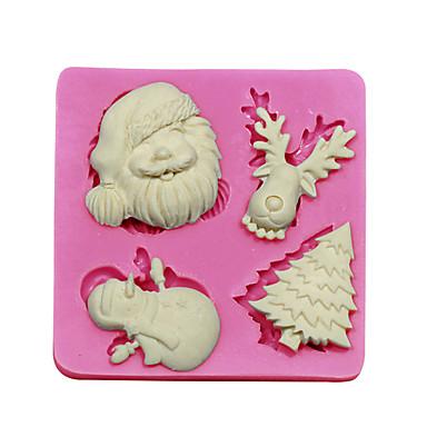 Edible Reindeer Cake Decoration : Fondant Cake Decorating Tools Christmas Tree Santa Claus ...