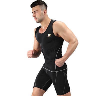 Men's Running Tank Clothing Sets/Suits Tops Wearable Lightweight Materials Soft Sweat-wicking Compression Sports WearYoga Pilates