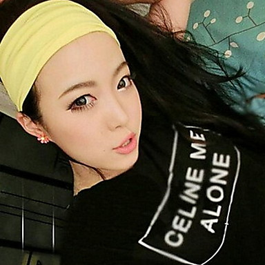 Buy Women Sports Pure Color Head Scarf Cotton Headbands Hair Accessories