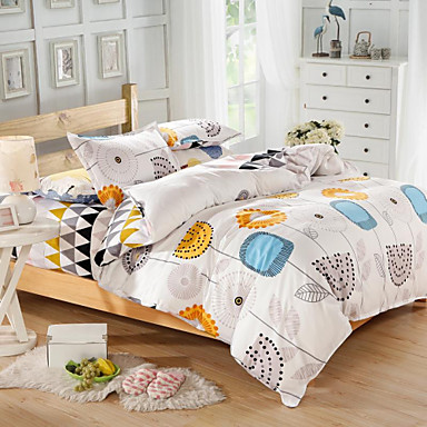 Mingjie blue and yellow cartoon flowers queen and twin - Yellow and blue bedding queen ...