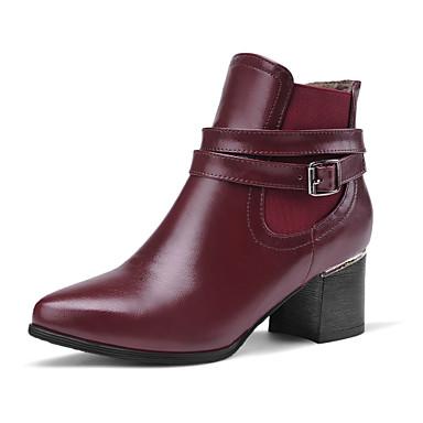Zapatos de mujer tac n robusto tacones botas - Botas de trabajo ...