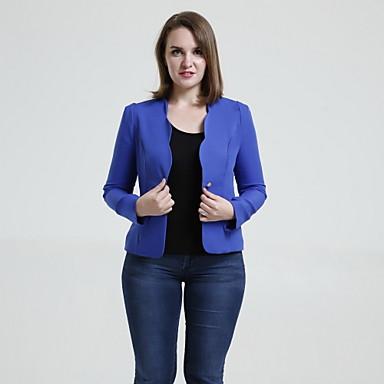 YIBEIER® Women's Candy Color Slim Fit Long Sleeve Blazer