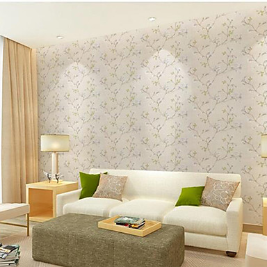 blumen tapete landhaus stil wandverkleidung pvc vinyl wall paper 10 m 4586661 2016. Black Bedroom Furniture Sets. Home Design Ideas