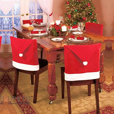 pcs nueva moda silla de pap noel sombrero rojo casa mesa decoracin de la fiesta de navidad para la navidad u